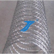 Hot Dipped Galvanized Razor Mesh, Razor Wire
