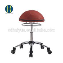 Haiyue Factory New European Ergonomic Design Red Mesh taburete de bolas silla de la computadora