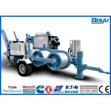 28 Ton Hydraulic Transmission Line Stringing Equipment With High Power 280kn