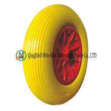 Roue de brouette de mousse d'unité centrale de 4.80 / 4.00-8 16 pouces libèrent le pneu libre