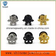 Jóias de moda Shineme Jóias de aço inoxidável em forma de flor Ear Stud Er2918
