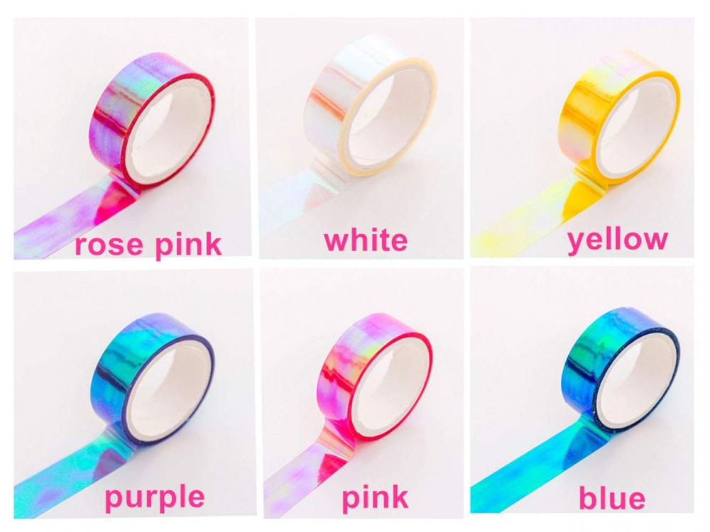 Holographic Rainbow Colored Masking Tape 1