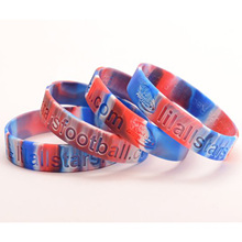 2016 Custom Debossed Segmented Wristbands für Events