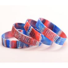 Custom Silicone de alta qualidade rodada pulseira para adultos