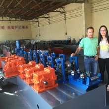 Metal steel high frequency welded pipe making machine
