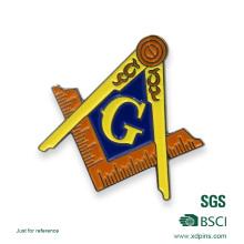 Emblema de esmalte maçônico Metal personalizado China atacado