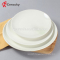 Cheap round white ceramic deep plate wholesale decal dinner plate