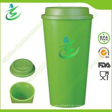 16 Unze Großhandel BPA-freie Kaffeetasse mit kundenspezifischem Firmenzeichen