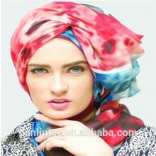 100% полиэфирная ткань с кружевом для шарфа 50S \ 60S \ 80S