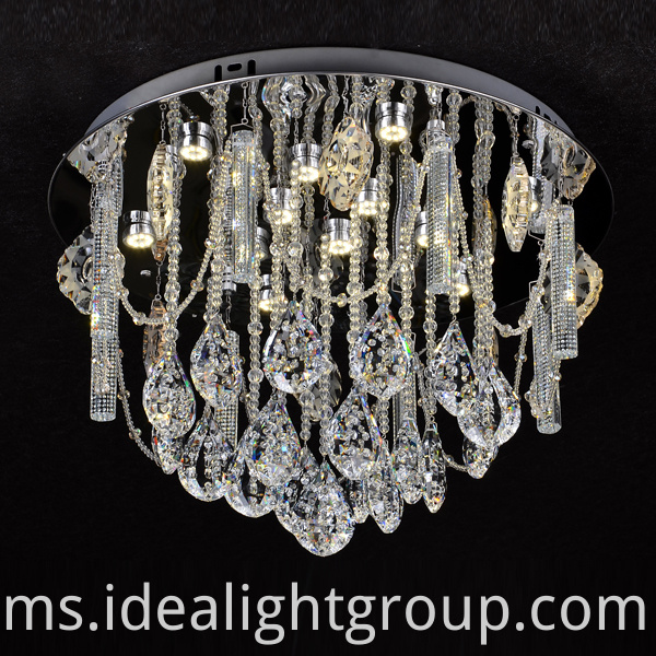 chandelier with crystal ball