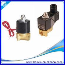 HAOXIA 2 vias de atuação direta Válvula Solenóide Mini Latão AC230V