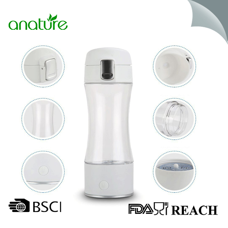 Hydrogen Plastic Water Bottle Generator Rechargeable Portable