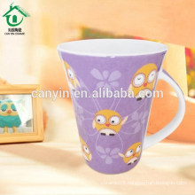 2015 Food contact safe fine thin tall porcelain mugs