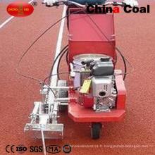 Machine de marquage de route de peinture chaude thermoplastique de main-pousser pour le trottoir en caoutchouc de champ d'athlète de sports