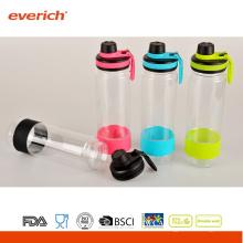 2015 Рекламная пластиковая бутылка с водой с широким ртом и спортивной крышкой