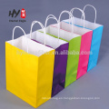 Venta al por mayor colorida promocional de la bolsa de papel de Kraft