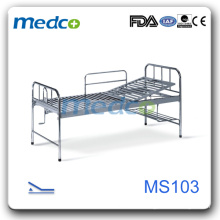 MS103 Stainless Steel one function Medical Hospital Bed price