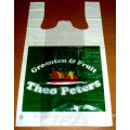 plastic T-shirt shopping bag for supermarket food packaging and shopping bags, fresh bags, produce bags on roll, food bags, frui