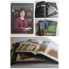 Diseño de cliente Libro de tapa blanda / revista / folleto de impresión