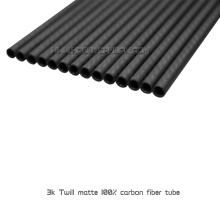 Tubos o tubos redondos de la fibra de carbono llena brillante del precio de fábrica 3K