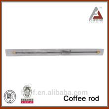 Barra de café colorida de la bola del diseño superior, barra flexible de la cortina de ducha, barra telescópica del café del resorte