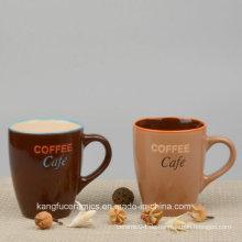 Heiße Verkaufs-populäre Farbe glasig-glänzende keramische Tasse
