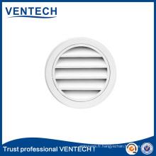 Persienne ronde imperméable d'excellent fabricant pour l'usage de ventilation