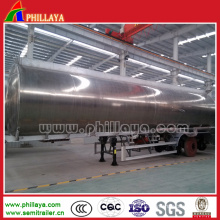 Fuel Tanker Transport Semi Trailer Aluminum Tank