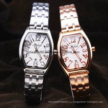 Стильный Женский Браслет часы Кварцевые часы из нержавеющей стали