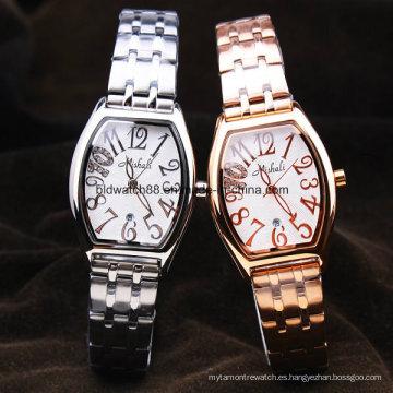 Reloj de pulsera elegante para mujer Acero inoxidable de cuarzo