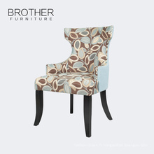 Meubles de tapisserie d'ameublement les feuilles modèle dos hauts dinant des chaises