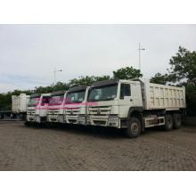 Camion à benne basculante LHD blanc de Sinotruk