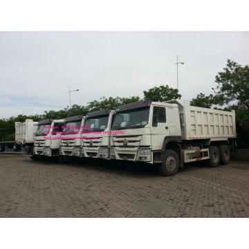 White LHD dump truck of Sinotruk