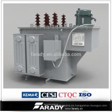 Regulador de voltaje trifásico de 33kv montado en polo de aceite sumergido