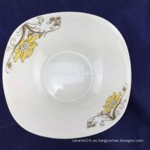 En forma de cuadrado de ensalada de porcelana fina de 7 pulgadas