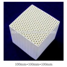 Agujeros hexagonales de 100x100x100mm Corindón Mullite Cordierite ceramic honeycomb