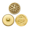 Vintage Antique Brass Metal Blazer Button Set