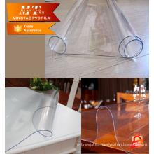 Películas transparentes transparentes de PVC blando Rollo de sábanas para manteles