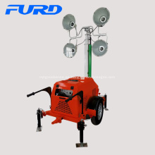 Venta al por mayor Telescopic Mobile Trailer Lighting Tower en stock