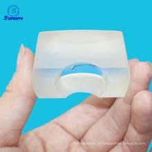 N-BK7 / K9 Comprimento focal de 25 mm x 12,5 mm 12,5 lente óptica cilíndrica plano convexa retangular