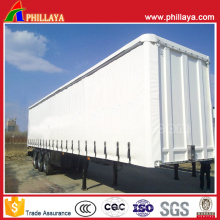 Stahlkasten-Gewebe-Vorhang-Seiten-halb Anhänger für Supermarkt-Waren