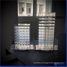 Spinning Acrylic Lápiz labial Organizador Maquillaje Tower Storage Box Solution