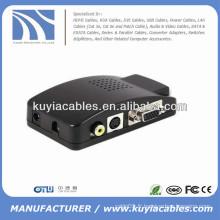 Convertisseur AV vers VGA pour écran LCD, moniteur