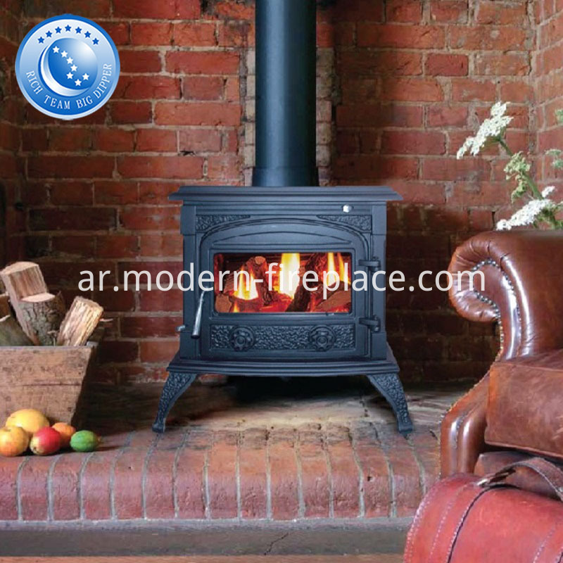 11KW Black Cast Iron Wood Burning Stoves