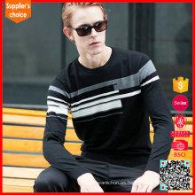 2017 Suéter del intarsia de los hombres largos vendedores calientes del cuello del equipo de los cuello