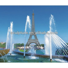 Shengfa-Park Edelstahl Skulptur / Metall Wasserbrunnen