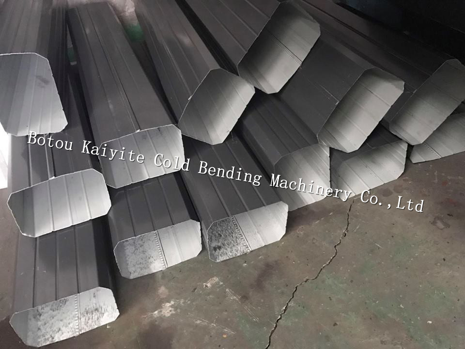 Automatic downspount gutter roll forming machine for k type arch flashing roof