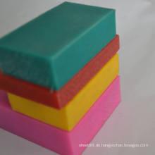 0.92-0.98g / cm3 Dichte Grün Rosa Gelb Rot PE Blatt