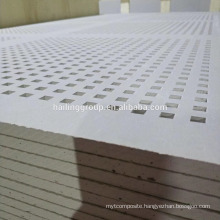 4'*8' Soundproof Insulated Perforated Gypsum Boards With Square Holes For Office