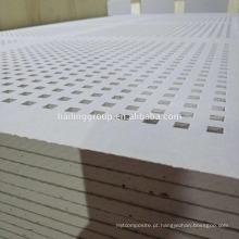 4 '* 8' placas de gipsita perfuradas isoladas à prova de som com furos quadrados para o escritório